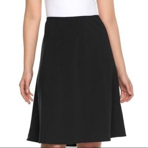 Briggs NY // Black Fit and Flare Skirt